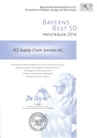 SCS Supply Chain Services AG - Bayerns Best 50