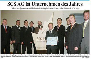 Unternehmen des Jahres - SCS AG Logistik und Transportunternehmen